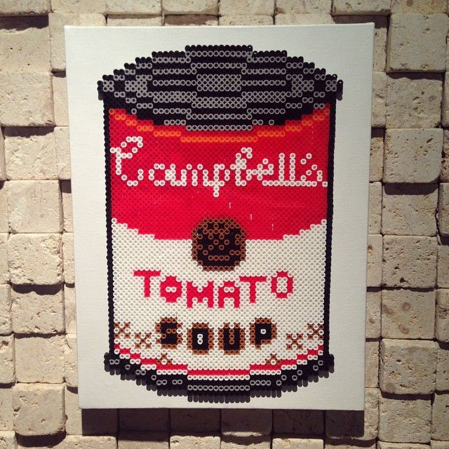 Campbell's Soup  perler beads by oleehamo