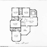 مخطط منزل صغير دور واحد House Floor Design Family House Plans Classic House Design