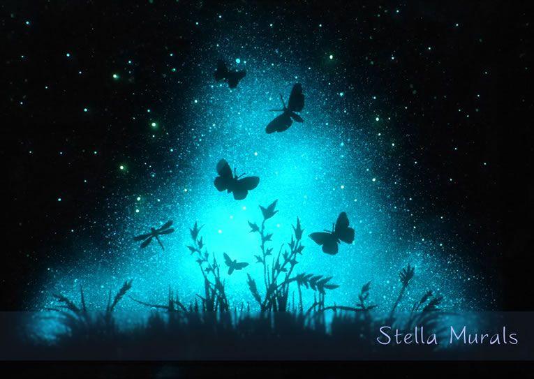 Glow In The Dark Star Murals Turn Your Room Into Cosmic