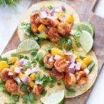 Jerk Shrimp Tacos with Mango Salsa #jerkshrimp