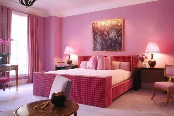 feng shui schlafzimmer einrichtung rosa Interior Decoration