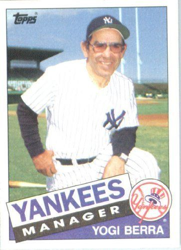 1985 Topps Baseball Card 155 Yogi Berra New York Yankees Mint Condition Shipped In Protective Screwdown Display Case By Baseball Cards Yogi Berra Baseball