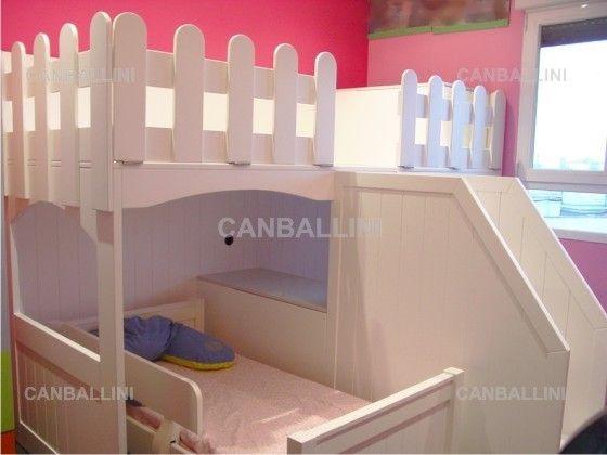 Litera para nios con camas en U Literas divertidas con 3 camas
