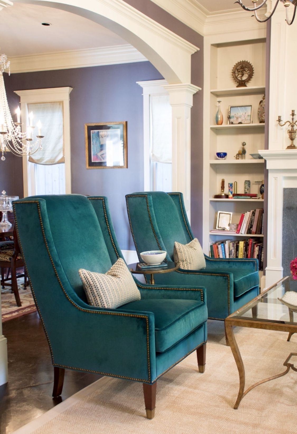 Gorgeous Teal Living Room Decor With Teal Chairs Teal Li