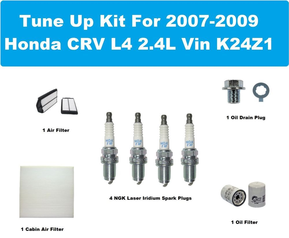 hight resolution of tune up kit for 2007 2009 honda crv spark plug oil filter cabin filter oil dr aftermarketproducts