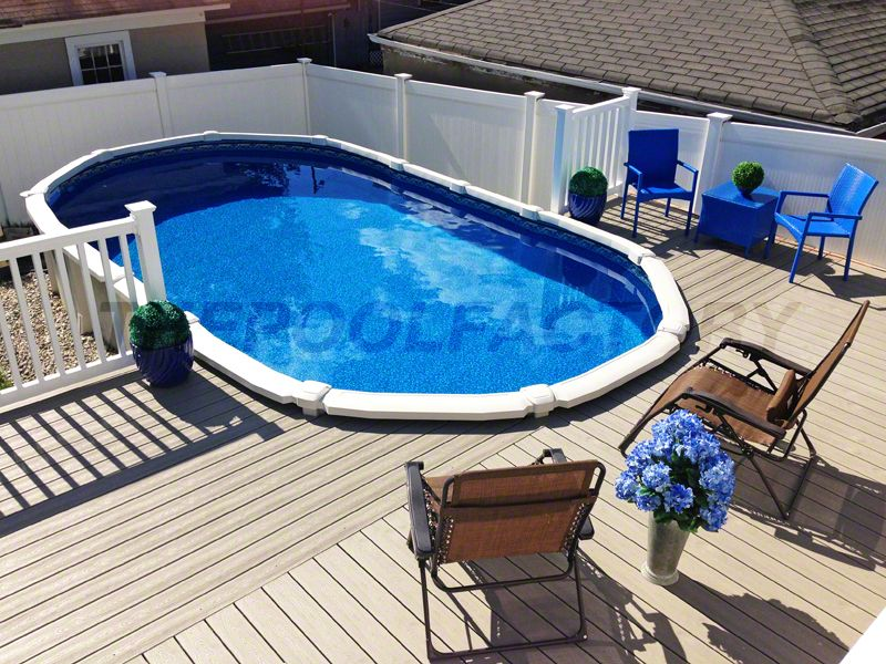 A Saltwater 8000 Oval Pool Installed Beautifully With Adjoining