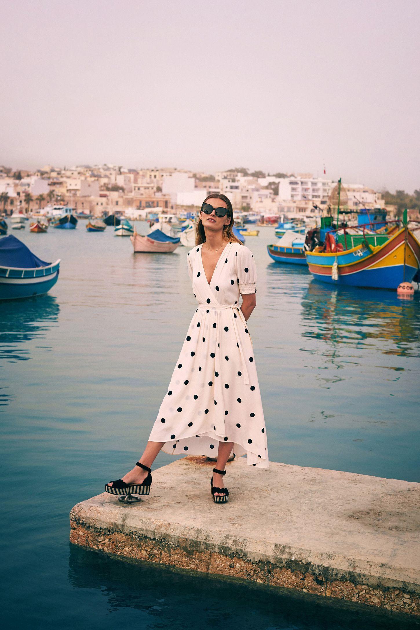 Breanna Polka Dot Wrap Dress Dresses Wrap Dress Polka Dots