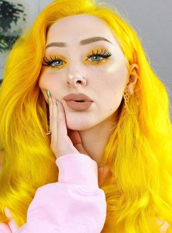 Crazy Sun Shine Yellow Hair Colors Amp Makeup Trends In 2019
