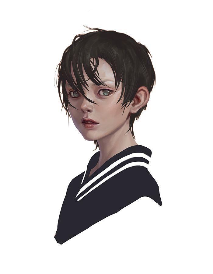Artstation Girl Sunme Lee Concept Art Characters Art Boy Art