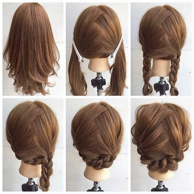 Fashionable Braid Hairstyle For Shoulder Length Hair Hair Styles Diy Hairstyles Medium Hair Styles