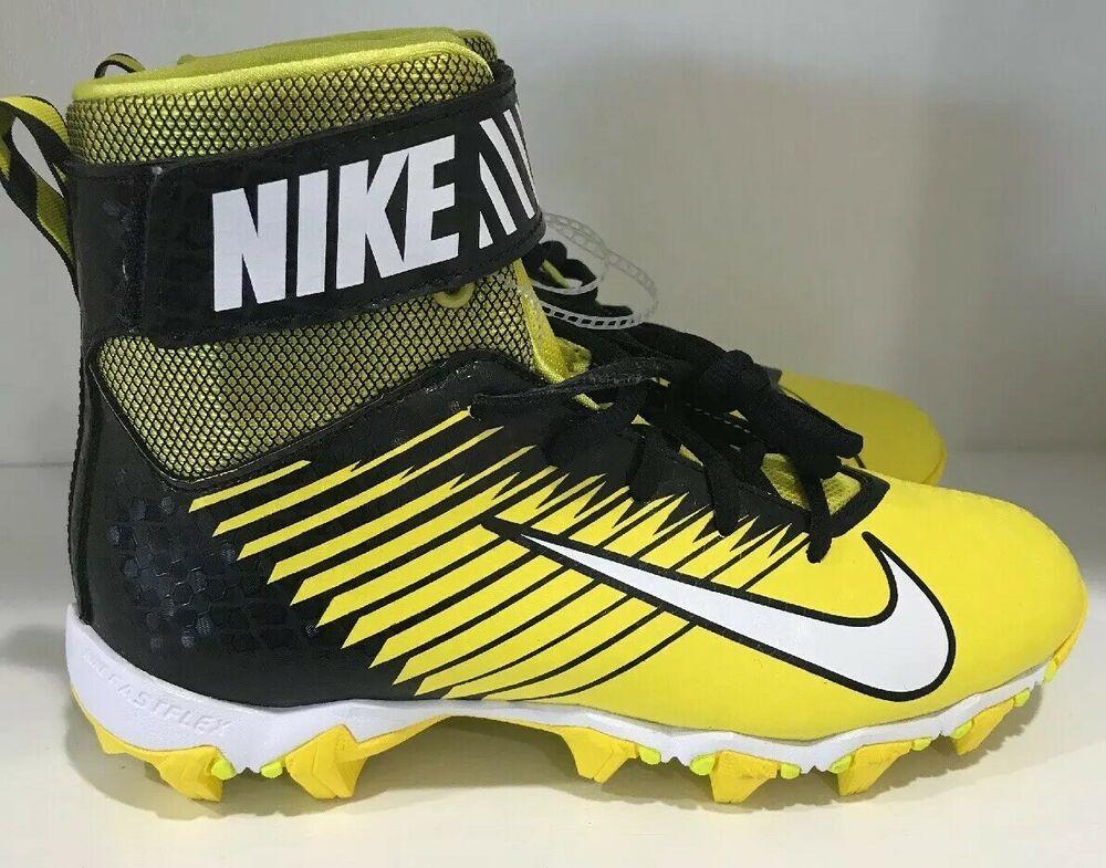 Nike football cleats strike shark youth yellow black 4y us