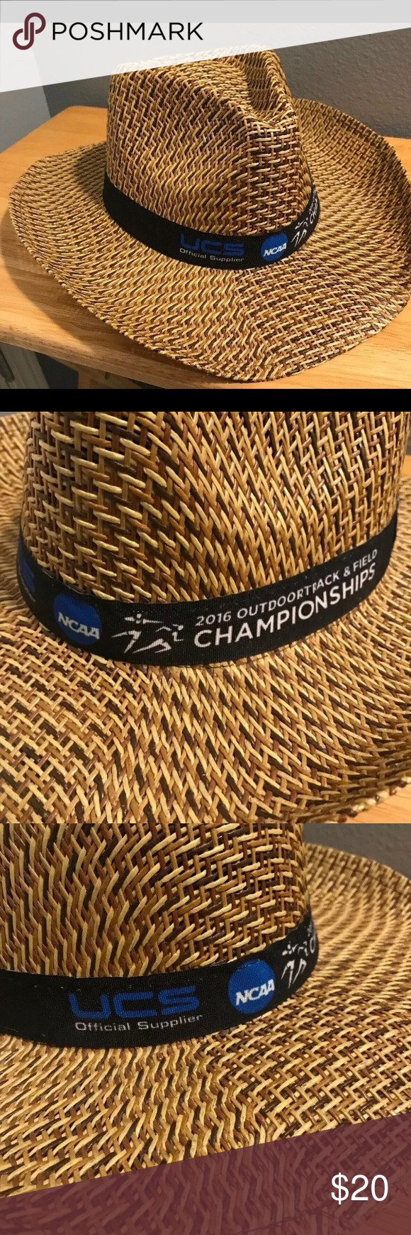 Outback Style 2016 NCAA Track & Field Straw Hat Outback Straw Hat ; 2016 Outdoor Track & Field Championships - Rare Item. Condition is Used.   This hat is really cool - perfect condition and isn't something you see every day !  Fight the sun with this cool hat; if you are a NCAA track fan... you gotta have it !! Accessories Hats #gottahaveit