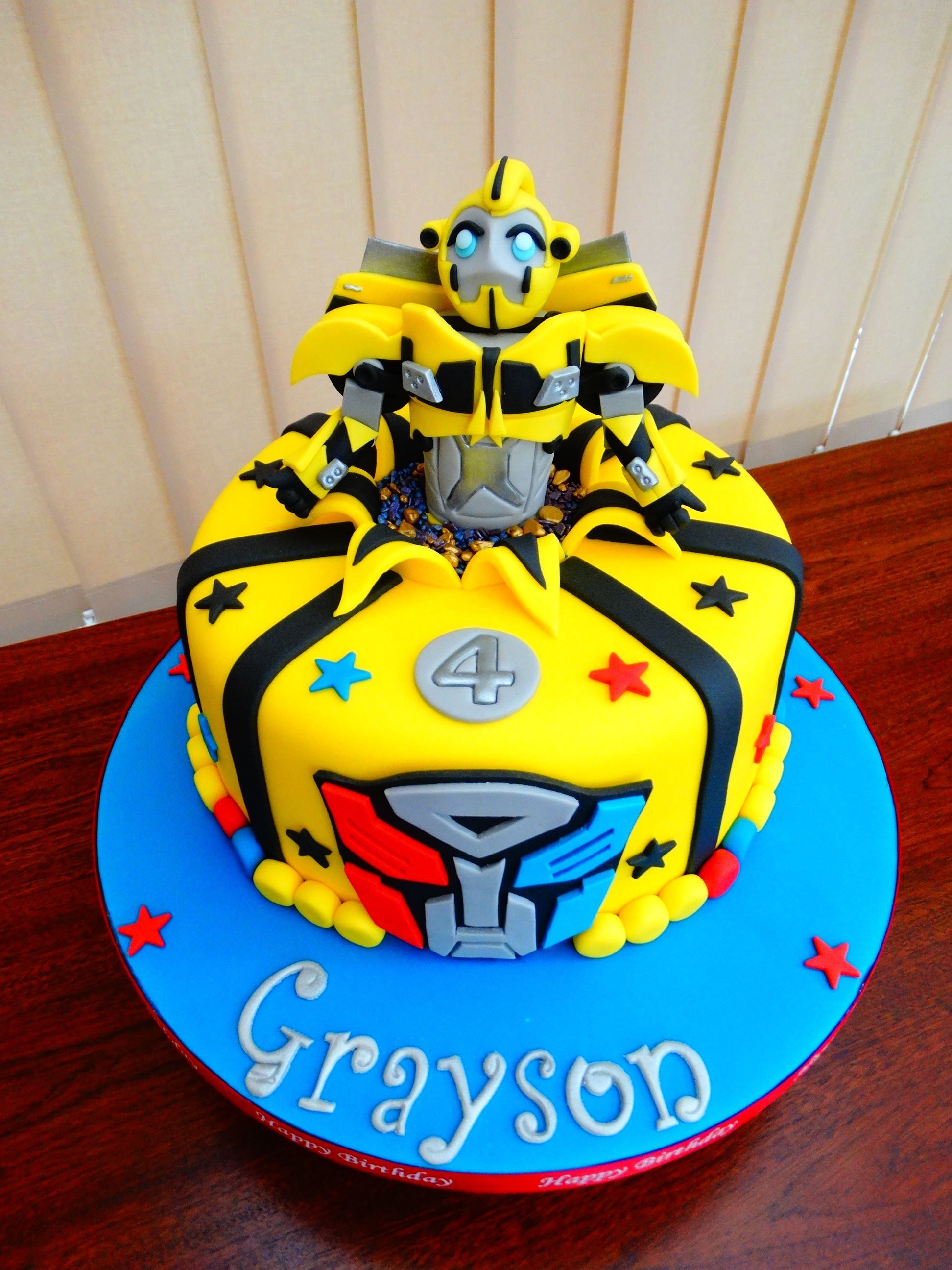 Admirable Bumblebee Transformers Cake Xmcx Transformers Birthday Cake Funny Birthday Cards Online Elaedamsfinfo