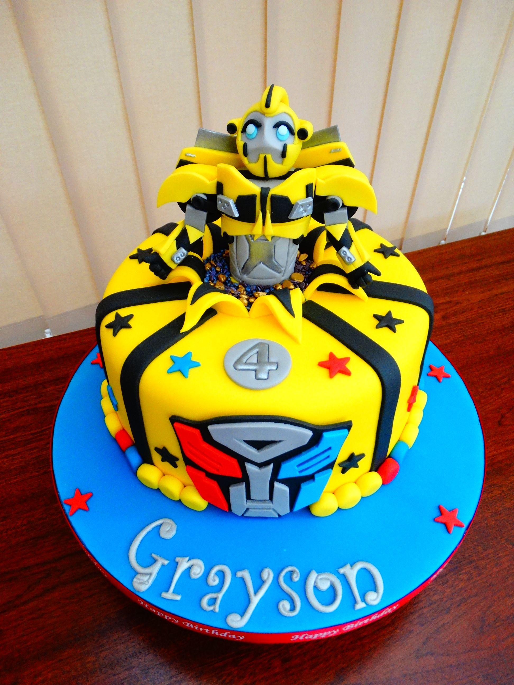 Tremendous Bumblebee Transformers Cake Xmcx Transformers Birthday Cake Funny Birthday Cards Online Inifofree Goldxyz