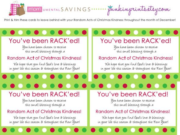 Random acts of christmas kindness form momumental savings rack random acts of christmas kindness form momumental savings pronofoot35fo Image collections