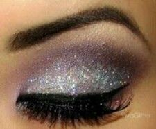 smoky purple with grey eye make up style