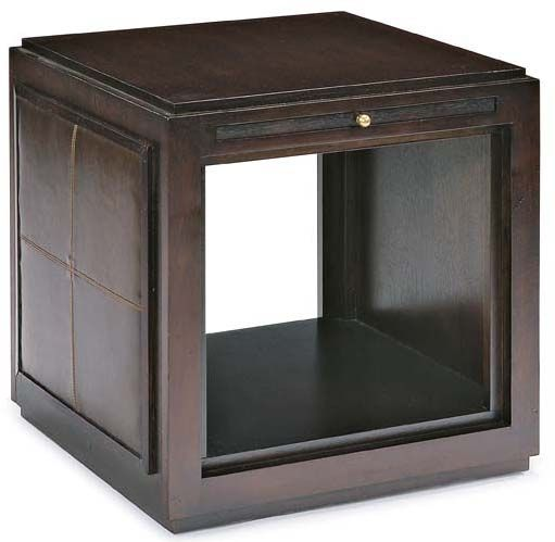 Montego Contemporary Merlot Wood Square End Table W Drawer: Cheap State Street Cube End Table W Pull-Out Shelf