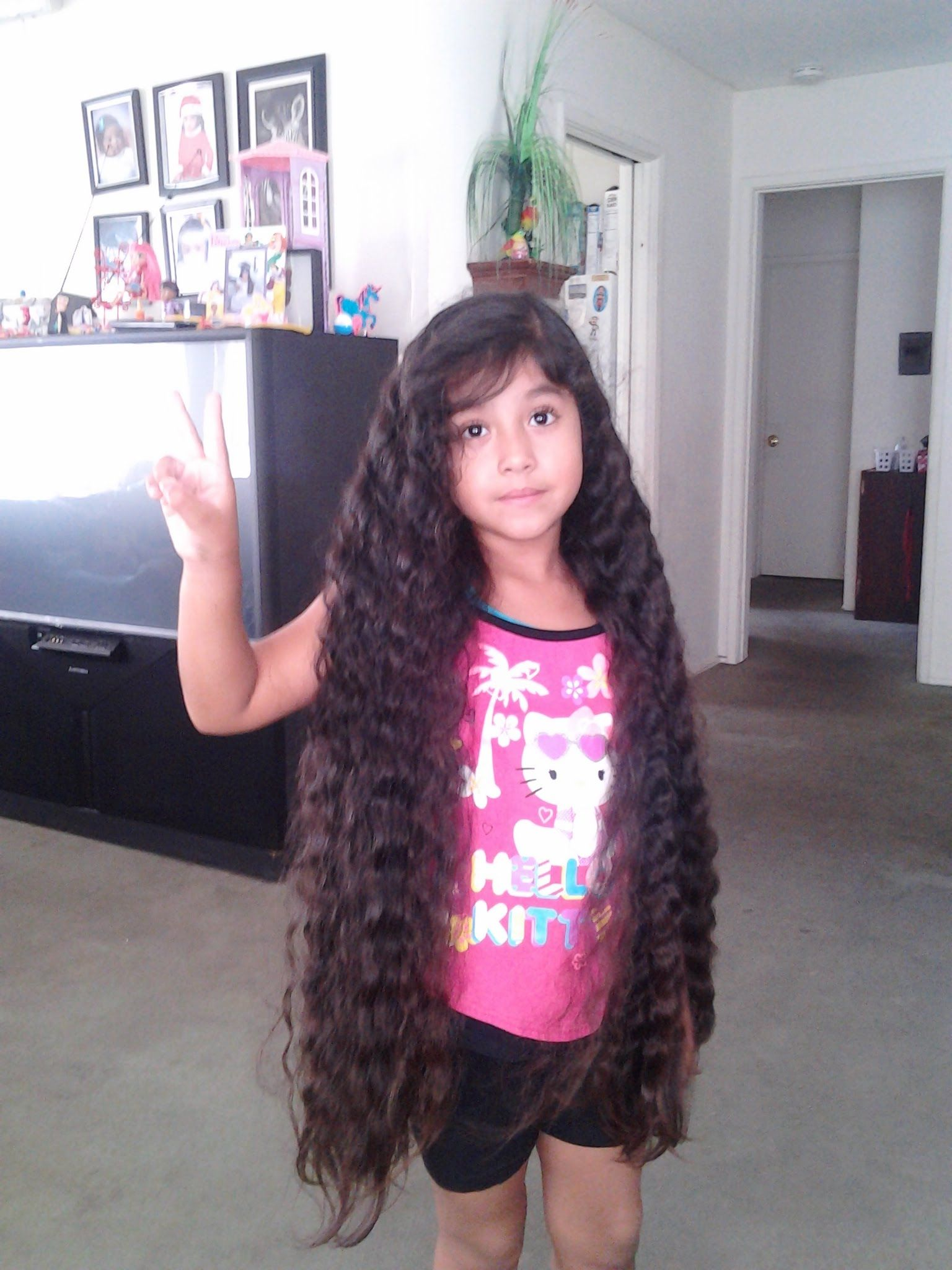 Rubi 6yrs Old W The Longest Hair In World Part 3