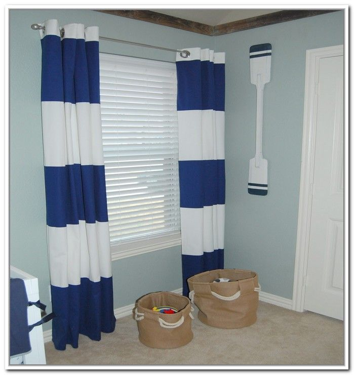 nautical blue striped curtains - best curtains 2017