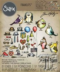Sizzix 660949 Framelits Dies Mini by Tim Holtz Bird Crazy and Things