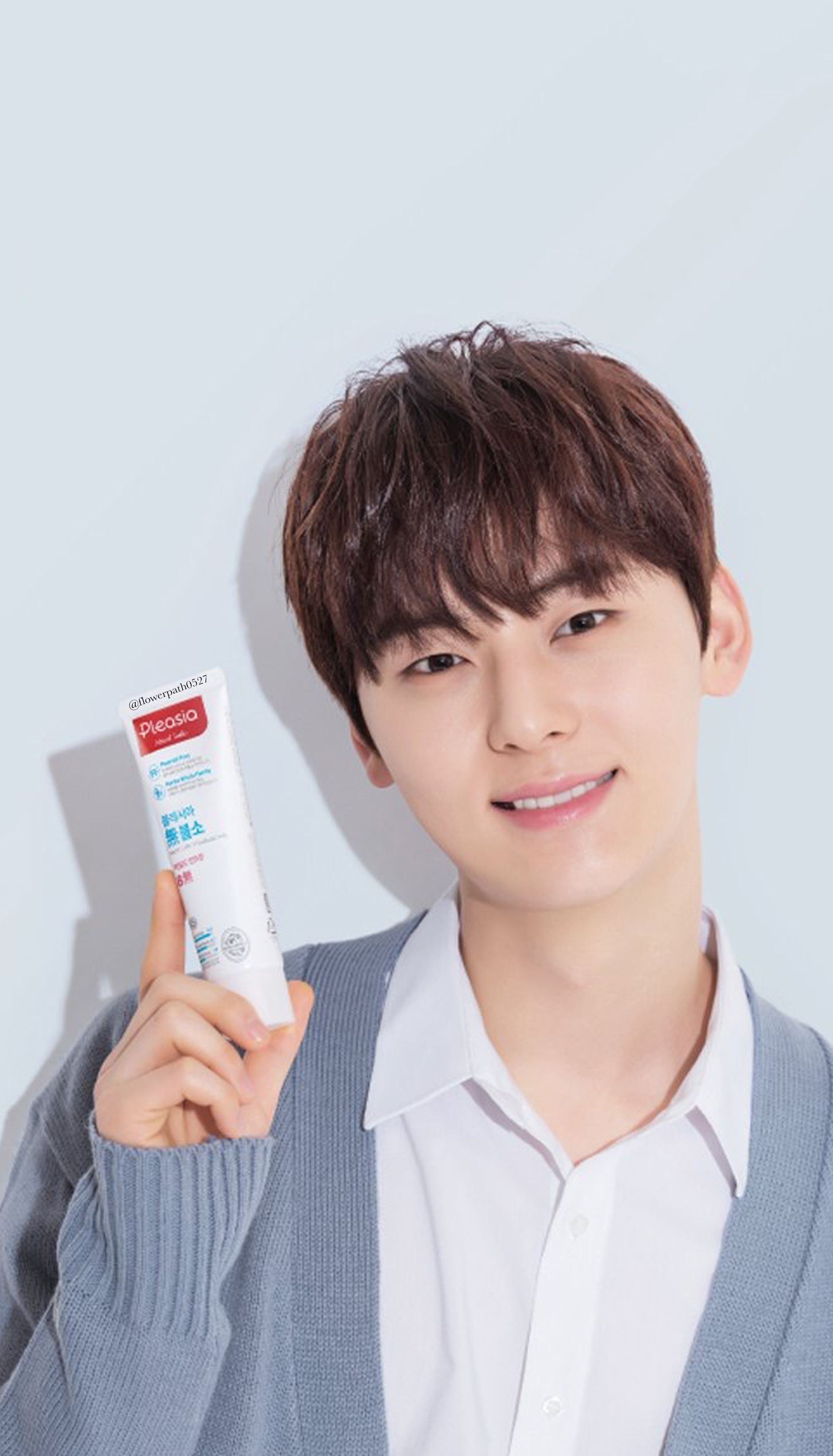Wanna One X Pleasia Toothpaste Hwang Minhyun Wallpaper Wanna One