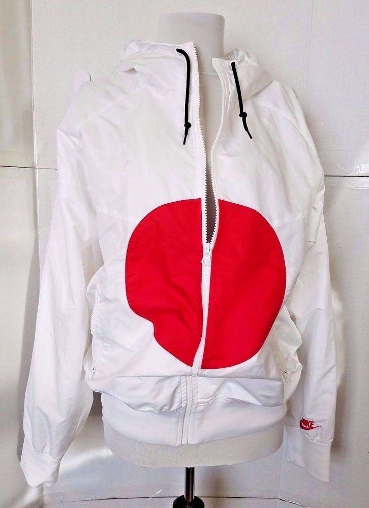 2008 Nike Windbreaker Hoodie Japan Flag White Split Jacket Small Rare  Nike   Windbreaker dd89ede95