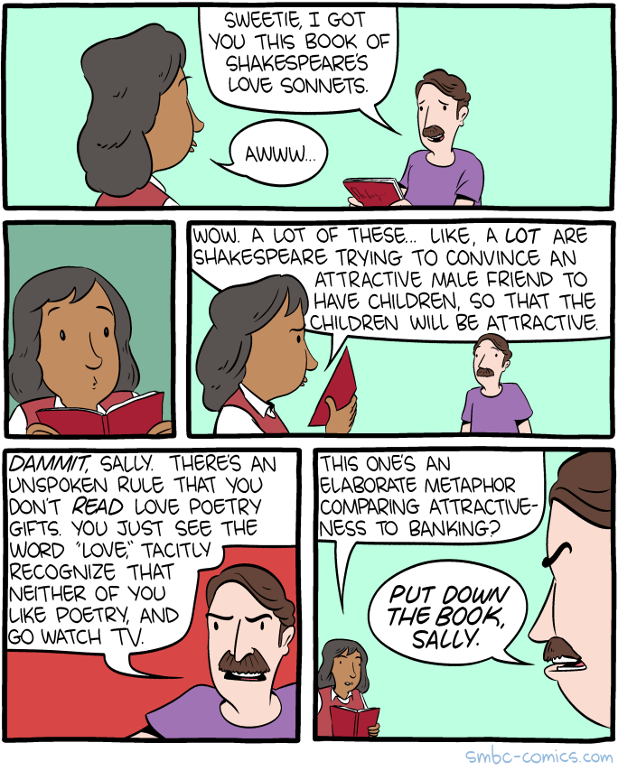 That Banking Poem Is A Real Thing By The Way I M Not Quite Sure How These Are So Popular Smbc Comics Funny Comics Funny Jokes