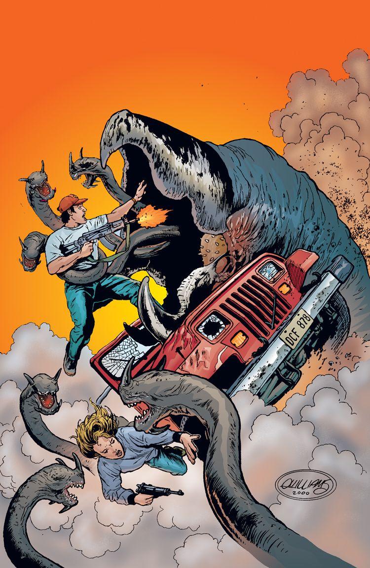 The short story behind Tremors comics Horror movie art