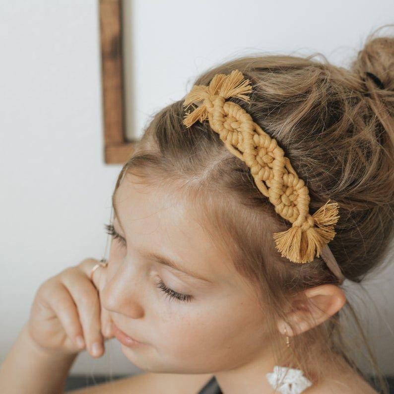 Macrame Headband | BOHO Headband | Macrame Crown | BOHO Bows | Macrame Baby Headband | Cute Headband | Macrame Hair Clip | Valentines gift