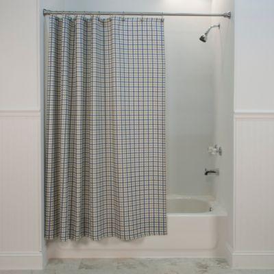 Bristol Plaid Shower Curtain in Blue | Plaid shower curtain, Bristol ...