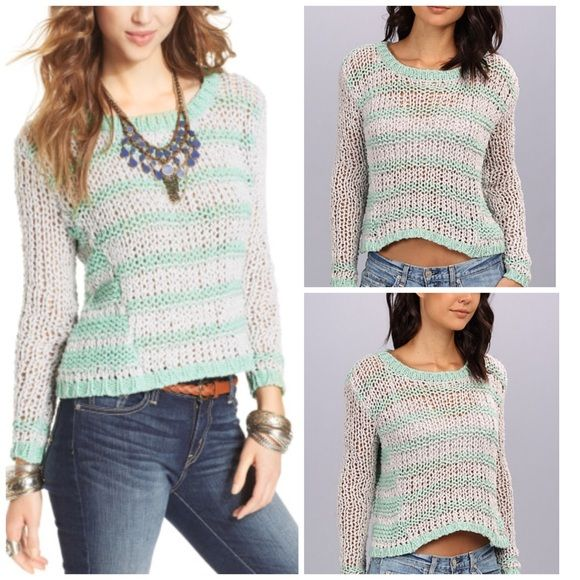 Free People Chunky Knit Striped Sweater | Loose knit