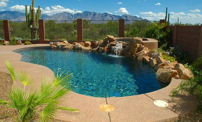 Arizona landscape designs pools landscaping jacuzzi pool for Pool design az