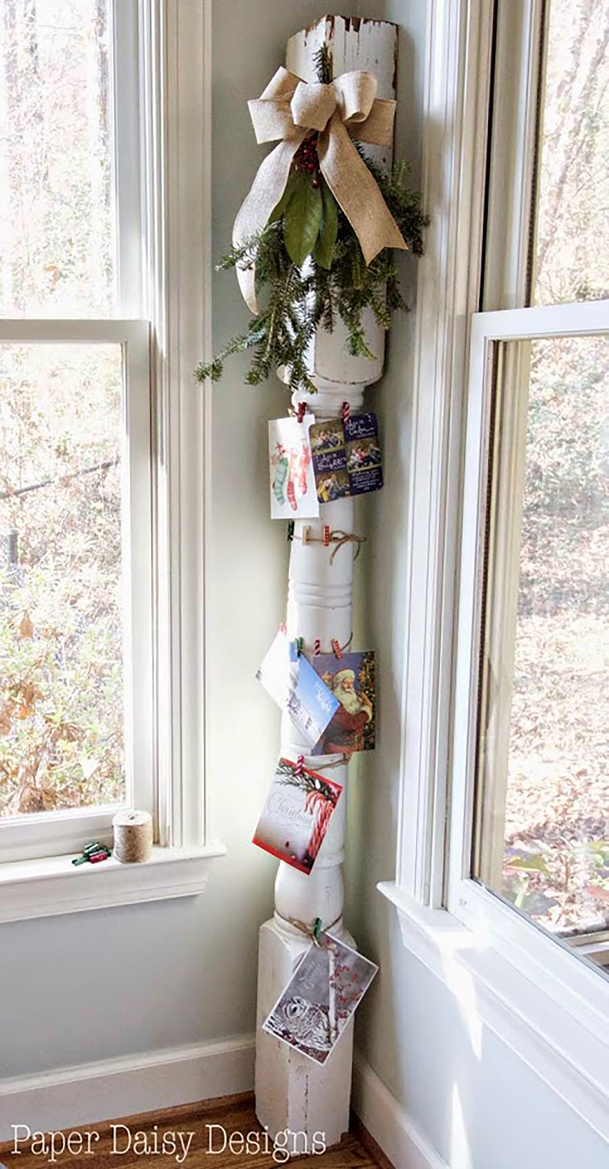 27 Christmas Card Display Ideas That Turn Season\'s Greetings Into ...