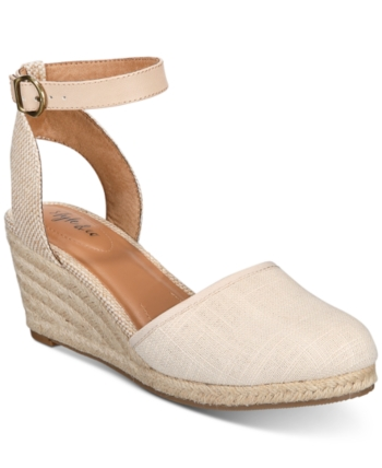 52b195f695e37 Shop Style & Co Mailena Wedge Espadrille Sandals, Created for Macy's online  at Macys.com. Fresh and flirty, Style & Co's Mailena espadrilles feature a  fun ...
