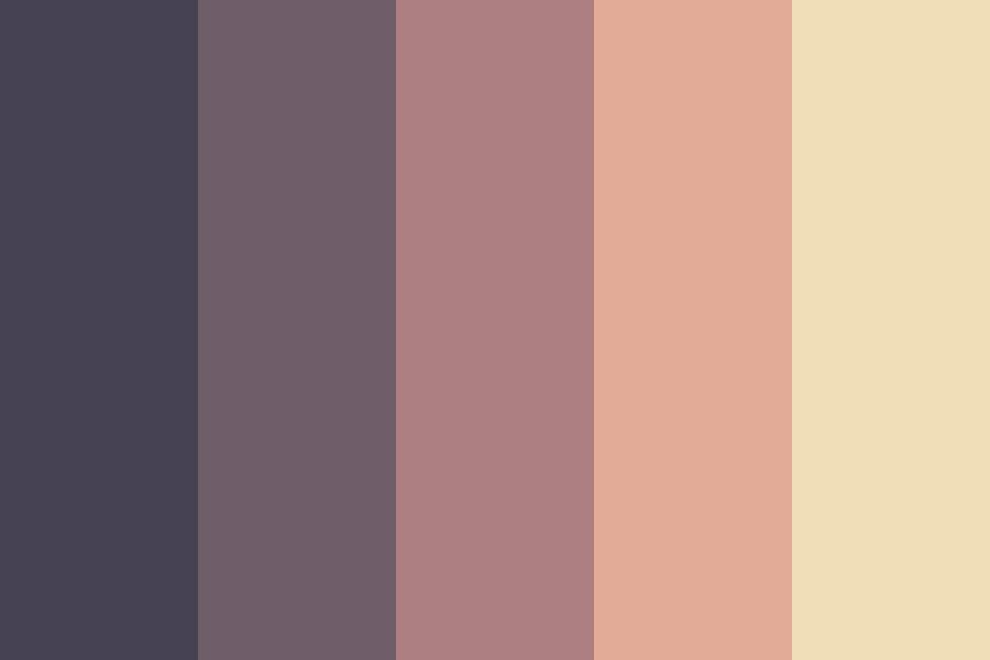 Colors Of The Fading Sunset Color Palette Color Colorschemes