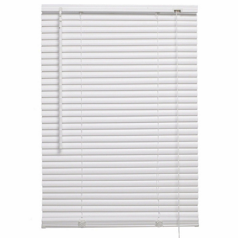 Store Venitien Pvc Pvc Blanc Blanc N 0 L 100 X H 175 Cm Inspire Store Venitien Stores Et Pvc