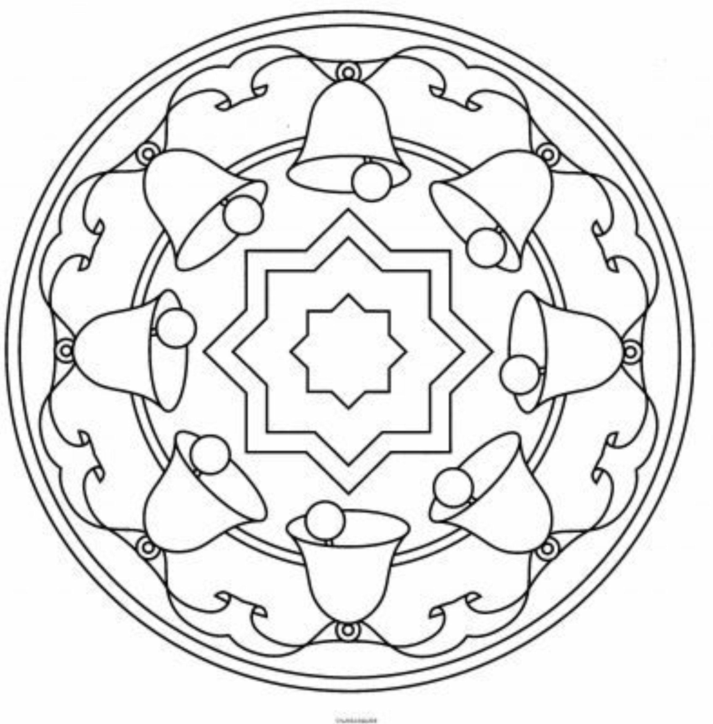 Mandala With Christmas Bells Christmas Pinterest Mandala Cd