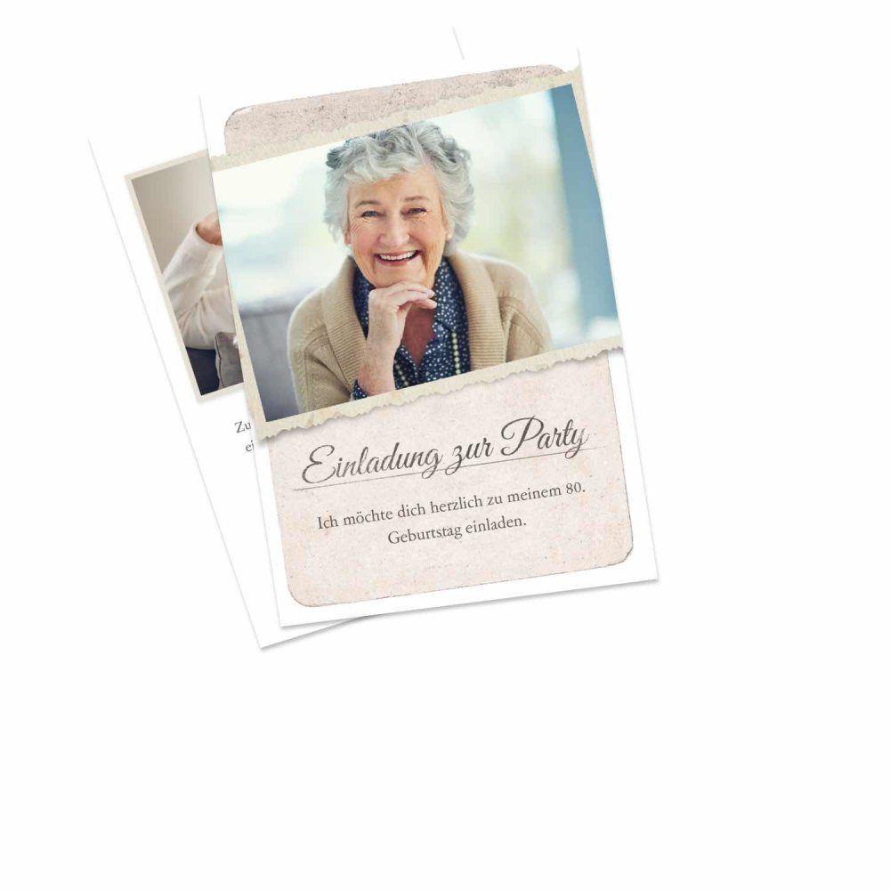 Einladungskarten Geburtstag Einladungen Zum 80 Geburtstag