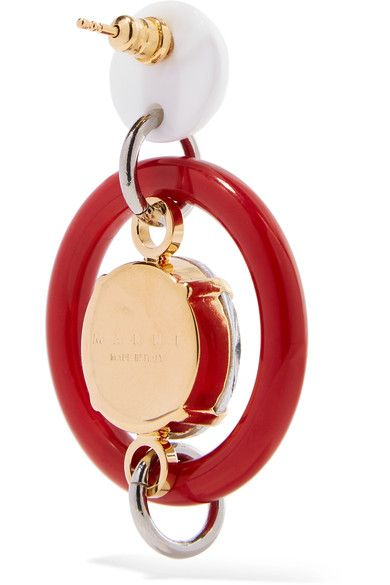 Gold-tone And Resin Earrings - Red Marni MZDXYbrLoP