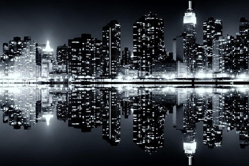 Cool Black And White Wallpapers 1920x1080 For Windows Skyline Fondos Jpg Noche Magica