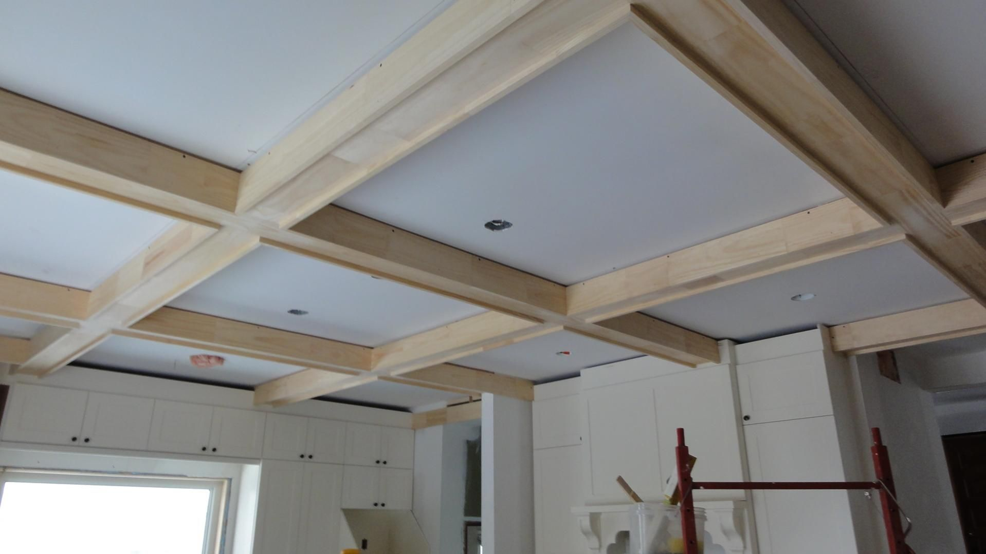 Box Beam Ceiling House Pinterest Ceiling Beams And Coffer - Cornice crown moulding toronto wainscoting coffered ceiling
