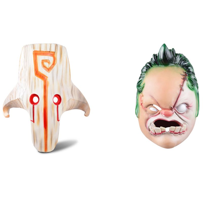 dota 2 figurine the Juggernaut Yurnero and Pugdge cosplay mask 11