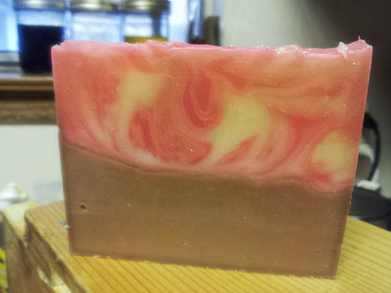 Peppermint Bark Delicioso! $6.50 — a silk infused double cream soap made with yogurt, coconut cream and an intriguing blend of oils and exotic butters.