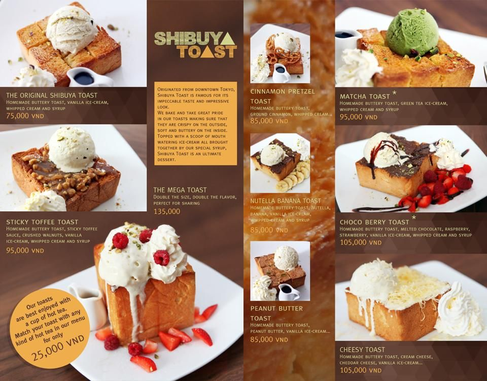 Dessert menu. Attract customers to have that dessert with amazing ...