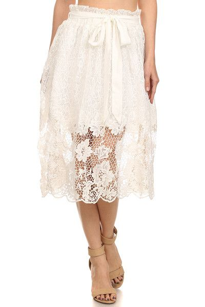 All Over Floral Lace Skirt-8