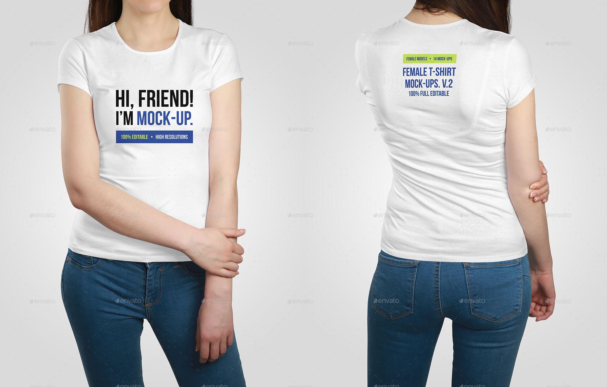 Download Female T Shirt Mockups Vol 2 Shirt Mockup Shirts T Shirts For Women