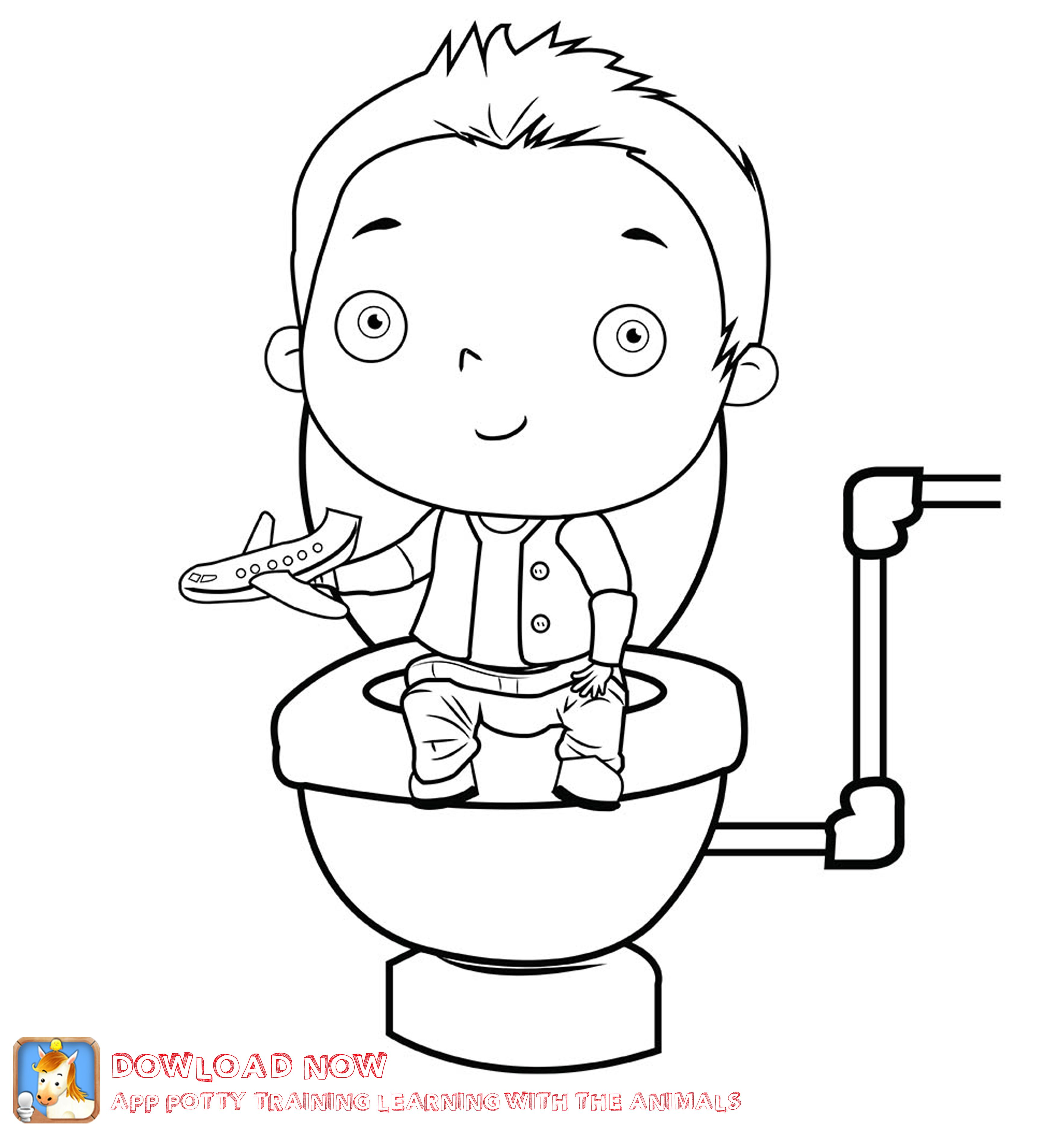 free potty training coloring pages