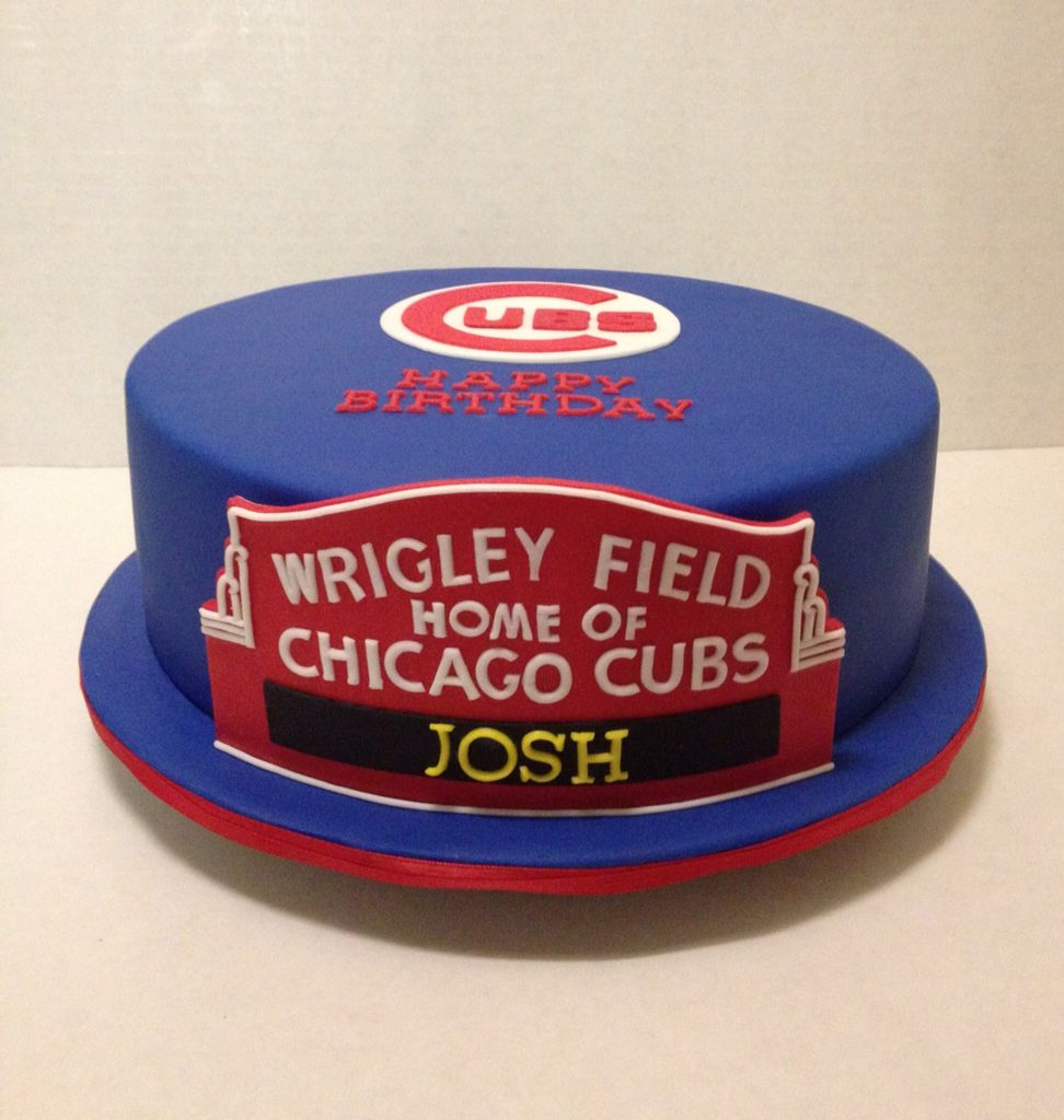 15 Best Images About Chicago Cubs Party On Pinterest: Chicago Cubs Wrigley Field Sign Cake