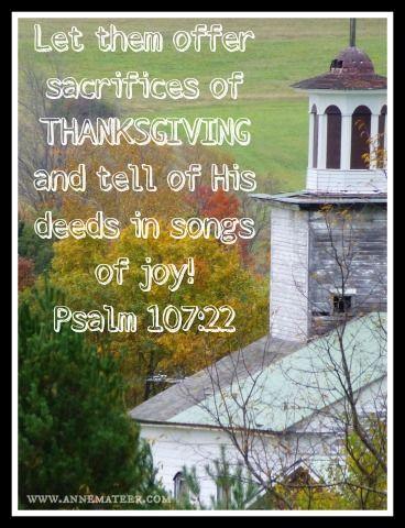 Psalm 107 22 Nkjv Let Them Sacrifice The Sacrifices Of