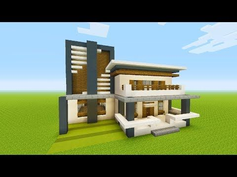 minecraft tutorial how to make a modern house 4 youtube cool